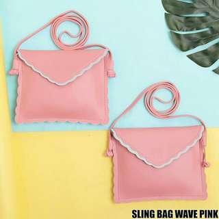 SLING BAG WAVE PINK