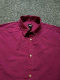 H&M Cotton Shirt Short Sleeve Size S