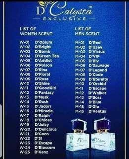 D'Calysta Perfume