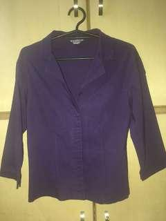 Violet button-down blazer