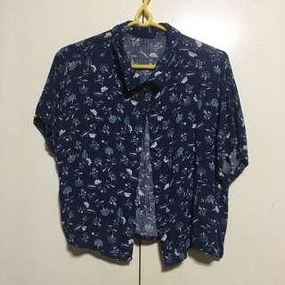 Floral Hanging/cropped top/Blouse M-L
