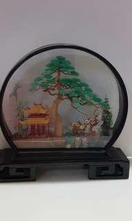 Wood carving decoration