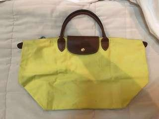 ‼️Authentic Longchamp Small Handle Large Neon Yellow