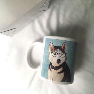 Husky Print Ceramic Mug