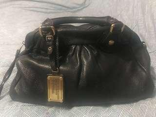 Authentic black leather Marc Jacobs Satchel