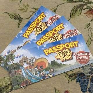 THREE Sunway Lagoon Passport Book Vouchers