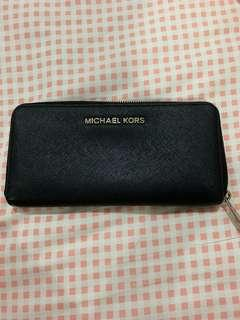 Michael Kors Wallet Purse Safiano Leather Black