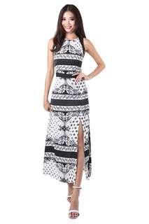 Rafaela Maxi Dress in Black - Size XS