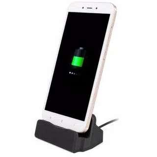 Paket Android Charging Dock (Gold) + Cable USB (Android Micro Charging) silver