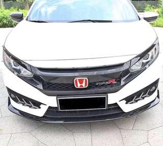 BNIB Honda Civic 10th Gen FC Carbon Fiber Bumper Lip