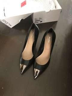 Size 8 Aldo Leather Heels Worn Once