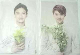 [ LOT OF 2 ] EXO EXO-M Chen/Jongdae and Luhan Nature Republic Postcards