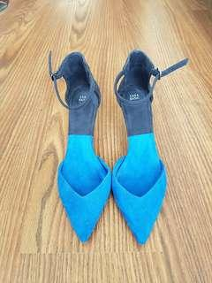 Blue Zara heels size 6