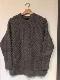 J.crew wool grey sweater / xs