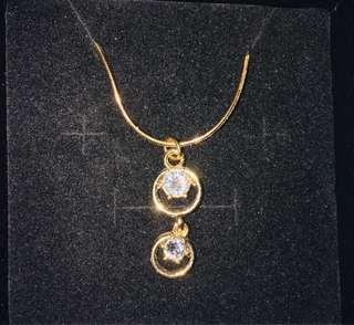Double gold platted necklace