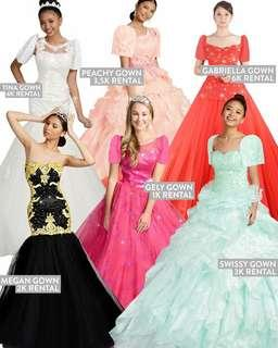 Gown for rent and sale