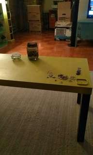 Moving sale. Neon yellow coffee table