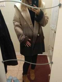 Vintage wool hooded jacket