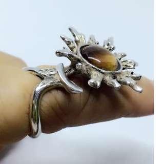 ring size 6 sterling silver tiger eye