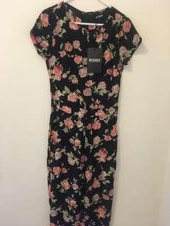 BNWT Misguided Floral Jumpsuit