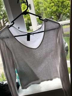 Factorie white crop top size L