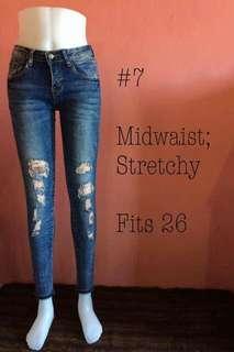 skinny tattered jeans