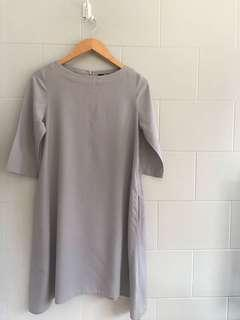 UNIQLO Grey Flare Dress