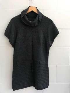 Dark Grey Mini Dress/Blouse Sweater