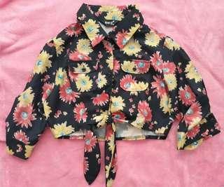 Crop top long sleeves