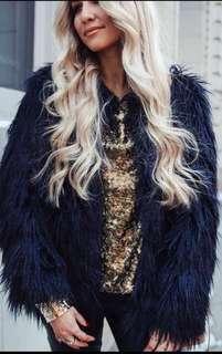 NWOT Zara Faux Fur Coat