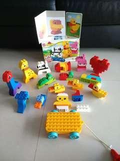 Preloved authetic lego Duplo animal pieces