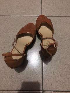Wedge Sandals Semi-Gamouza