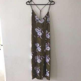 Silence + noise long floral dress