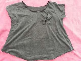 Loose top color gray with ribon