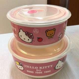 鴻福堂 X Sanrio Hello Kitty 微波爐密實盒 (一套兩件)
