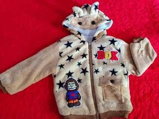 jaket bulu anak  1-3th