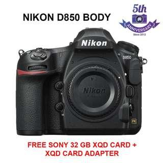 (11.11 SALE) New Nikon D850 Body Only  (FREE Sony 32GB XQD Card + XQD Card Reader)
