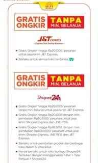 Gratis ongkir 10-11 Nov by Shopee JnT