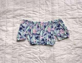 #single11 Off shoulder floral top