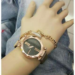 Jam tangan wanita import free gelang
