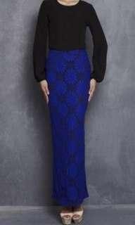 Emel x emma maembong full lace skirt