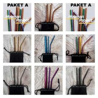 Stainless Steel Reusable Straws (Paket A)