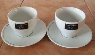 Davidoff cafe cup saucer