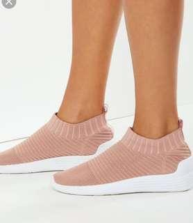 Rubi slip on trainers in dusty pink