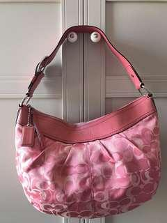 Barely used sexy pink authentic Coach bag