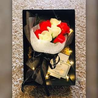 Forever * Red White Soap Roses 💐