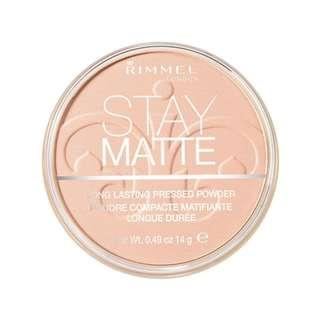 Rimmel Stay Matte Pressed Powder pink blossom #singles1111