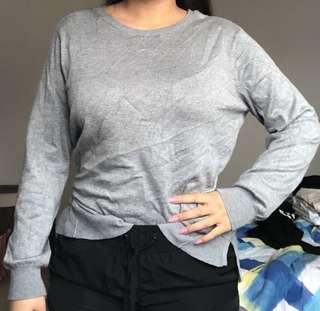 Grey oversized jumper