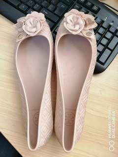 Authentic tory burch blossom jelly flats