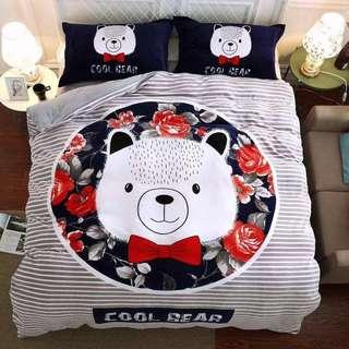 🚚 Bear Theme Queens and King Size Mattress Cover Set (4pcs)